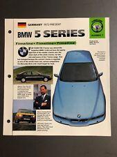 """1972 > BMW 5 Series Timeline IMP """"Hot Cars"""" Spec Sheet Folder Brochure Awesome"""
