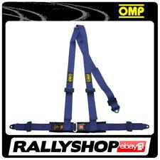 OMP ROAD 3 3 POINTS BLUE SEATBELT Harness Belts Race Racing Rally DA504041