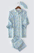 NEW Women Victoria's Secret Blue leopard PJ Pajama Sleepwear Nighties Pants Set