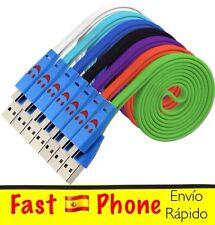 ;-) Cable plano micro USB. Lote 3 UNIDADES 1 metro. Sansung, Sony, BlackBerry