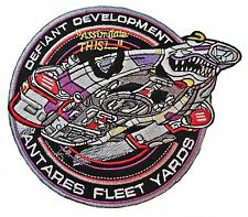 Star Trek: Deep Space 9 Defiant Development Iron-on/Sew-on Embroidered PATCH