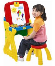 Crayola Play N Fold 2-in-1 Art Studio Easel Kids Desk Painting Chalkboard Stool