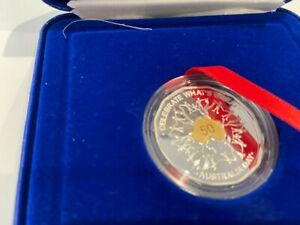 2010 AUSTRALIA DAY 50 CENT SELECTIVELY GOLD PLATED PROOF COIN NO. 0006548