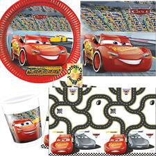 Cars 3 McQueen Partyset 37tlg. Teller Becher Servietten Tischdecke für 8 Kinder