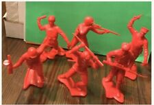 Set Of MARX TOYS Molded Russian Military Plastic Soldiers 6 Inch Set.