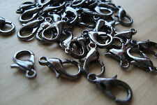 **40 Pcs approx. Lobster Claw Clasp Graphite Black Colour (12gm)**