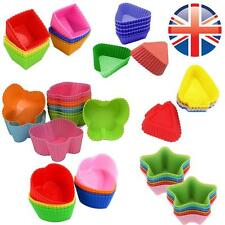 12PCS Silicone Various Shapes Cup Cake Muffin Cupcake Pan DIY Baking Tool Cases