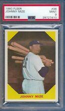 1960 Fleer Johnny Mize Card #38 New York Yankees MINT PSA 9