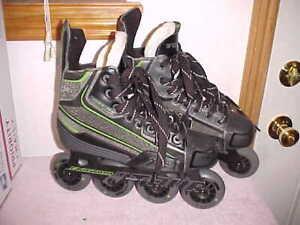 Mens Teen TOUR Code 9 Eviction XT Black Green Inline Roller Skates Blades Size 6