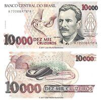 Brazil 10000 Cruzeiros ND (1993)  P-233c Banknotes UNC