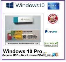 Genuine Microsoft Windows 10 Pro Professional 64Bit COA License Key + USB