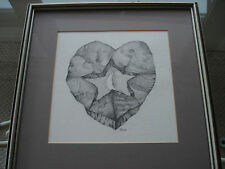 Sharon Yavis Original Graphite Drawing Signed by Southern Artist Heart Star Moon