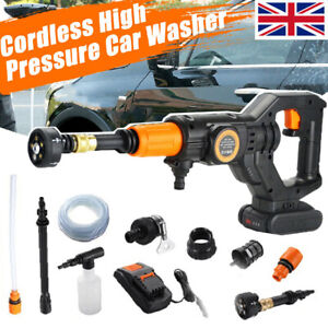 Electric Cordless Pressure Washer Water High Power Jet Wash Car Cleaner Portable