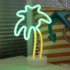 Coconut Palm tree Neon Signs, Led Neon Light Sign with Holder Base For Party Su