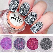 4box Mix Color Sandy Sugar Nail Art Powder Glitter for Acrylic UV Gel Decoration