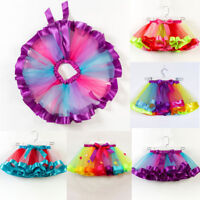 Girl Kids Tutu Skirt Tulle Princess Party Dance Ballet Dress Colorful Baby Skirt