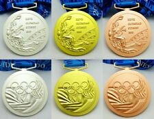 Complete Set 3pcs Sydney 2000 Olympic Medals Gold/Silver/Bronze+Ribbons 1:1 Size