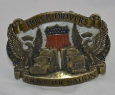 Truck Drivers Move The Nation Belt Buckle Flag Great American