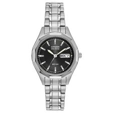 Citizen Eco-Drive Women's Black Dial Calendar Window 27mm Watch EW3140-51E