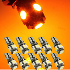 10Pcs Canbus Error Free Yellow T10 194 W5W 5050 5SMD Car LED License Light Amber