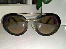 Prada Sunglasses Baroque Evolution Round SPR 13s 2AU 3D0 Dark Brown Havana