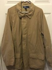 Mens Polo Ralph Lauren Khaki Rain/trench Coat Jacket
