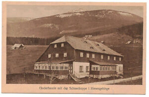 Ak Goderbaude mit der Schneekoppe Riesengebirge 1921 Grenzbaude !