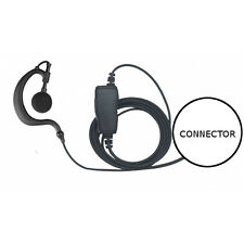 1-Wire Earhook Earpiece Inline PTT for Vertex Standard VX eVerge EVX (See List)