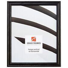 "Craig Frames .75"" Traditional Gloss Black Wood Picture Frames & Poster Frames"