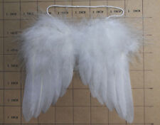 """12 Miniature Feather Angel Wings, 5"""", white color"""