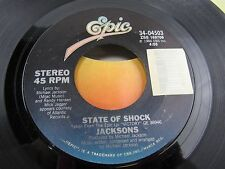 "JACKSONS State of Shock / Your Ways  7"" Record 34-04503"