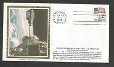 ARABSAT COMMUNICATION  SATELLITE DEPLOYED JUN 18,1985   COLORANO SILK CACHET