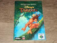 Tarzan Instruction Manual Booklet Nintendo 64 N64 Authentic