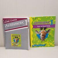 ABeka Arithmetic 1 Curriculum Lesson Plans Tests Speed Drills Teacher Key Book