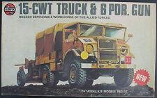 AIRFIX 08367-4 - 15-CWT TRUCK & 6 PDR. GUN - 1:35 - Modellbausatz - Model Kit
