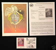 Mark E. Van Epps - Mask World Peace - Signed Lithograph & Cover Stamp Wfuna