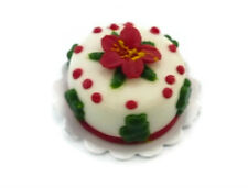 Christmas Cake Dollhouse Miniatures Food Supply Deco Holiday Season (2 cm)-1