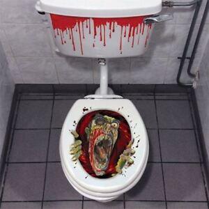 Halloween Horror Toilette Dekoration Spukhaus Heim Dekor Scary Zombie Party
