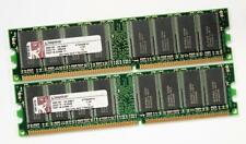 2GB (2X1GB) assortiti PC2700 333MHz DDR1 184-PIN non ECC, Unbuffered, RAM Desktop
