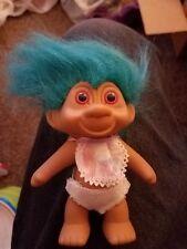 Trolls Turquoise Hair Diaper Bib No Gem
