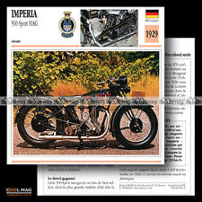 #090.12 IMPERIA 500 SPORT MAG 1929 Fiche Moto Motorcycle Card