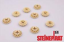 LEGO® 10x 6589 ***NEU*** Technic Zahnrad 12 Zähne / Getriebe / Zahnräder / beige