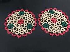 """New listing 2 Pieces 8-1/4"""" Inch Bamboo Mat"""
