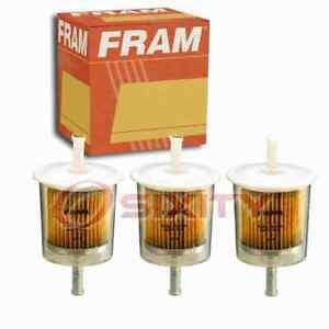 3 pc FRAM G1 Fuel Filters for G6536 GF682 MB504746 Gas Pump Line Air mv