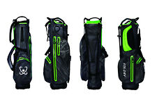 STA-DRY 100% Waterproof Golf Stand Bag Ultralightweight - Graphite Grey and Lime