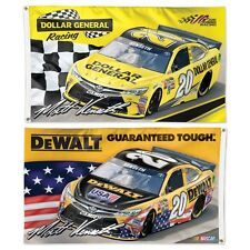 MATT KENSETH #20 DEWALT DOLLAR GENERAL 3'X5' DELUXE 2-SIDED FLAG NEW WINCRAFT