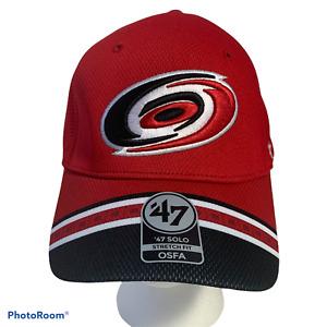 Carolina Hurricanes Canes NHL Hockey Stretch Fit Hat Cap Size OSFA '47 Brand