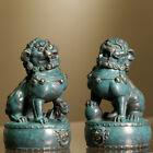 China Bronze Copper Evil Fengshui Fu Foo Dog Guardian Door Lion Statue Collect