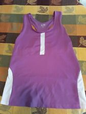Champion Tank Top Built-in Bra Women's Purple Yoga Gym Sport Athletic Shirt- L