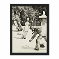 Max Klinger The Action Large Framed Art Print